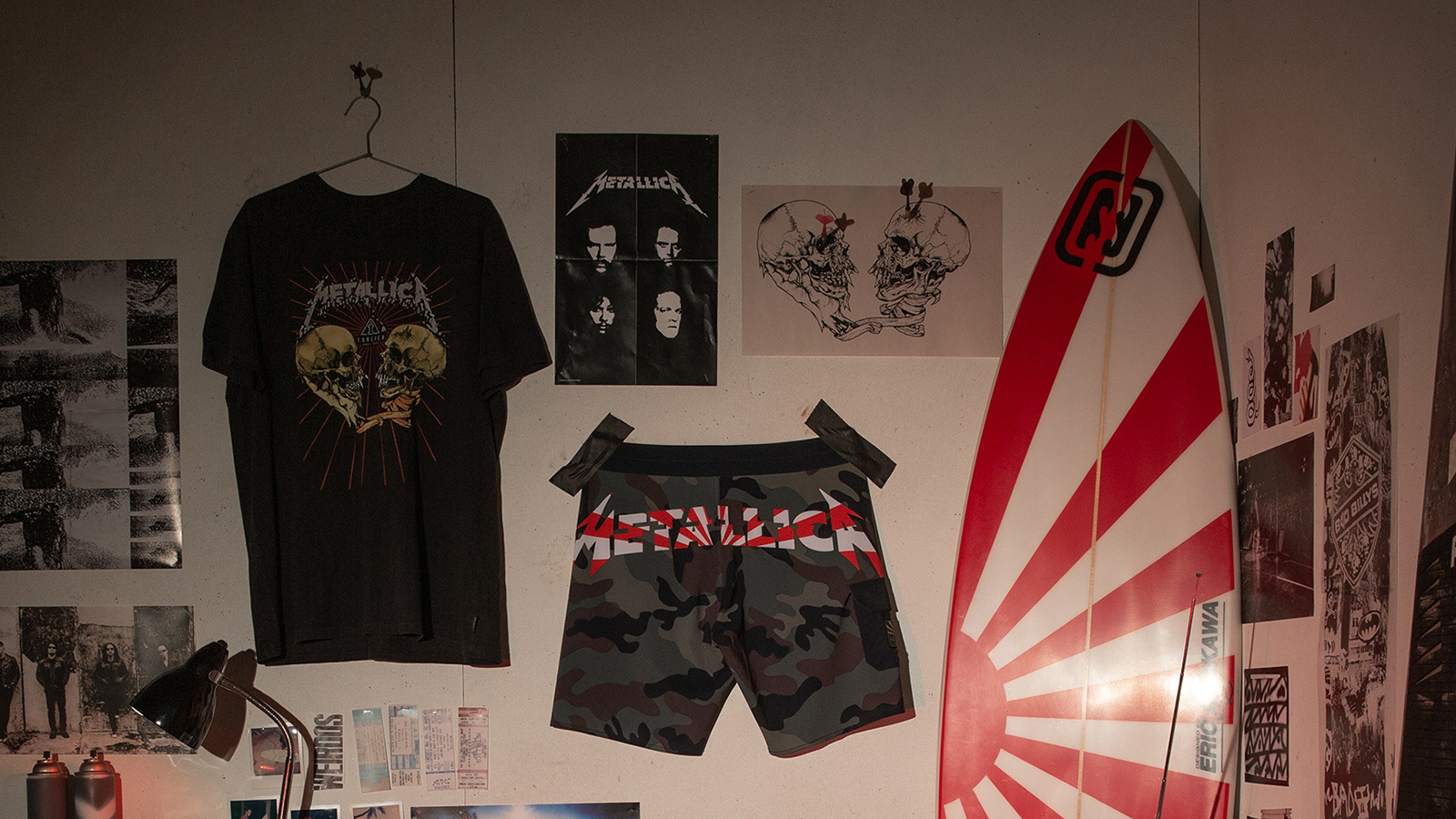 Metallica and Billabong Honor Andy Irons With Second Drop in Surfwear Collection