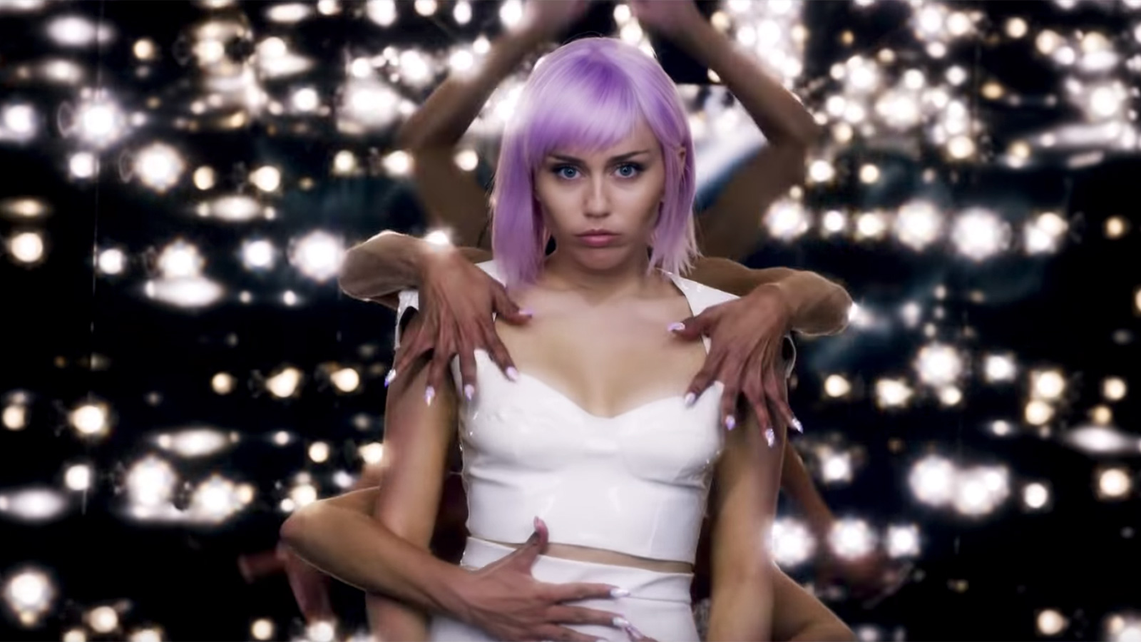 """See Miley Cyrus' Pink, Poppy Video for Nine Inch Nails """"Head Like a Hole"""" Cover"""