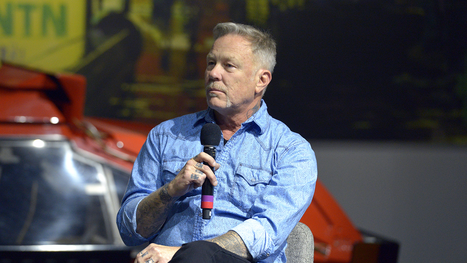 James Hetfield Makes First Post Rehab Appearance At Custom Car Exhibit Revolver