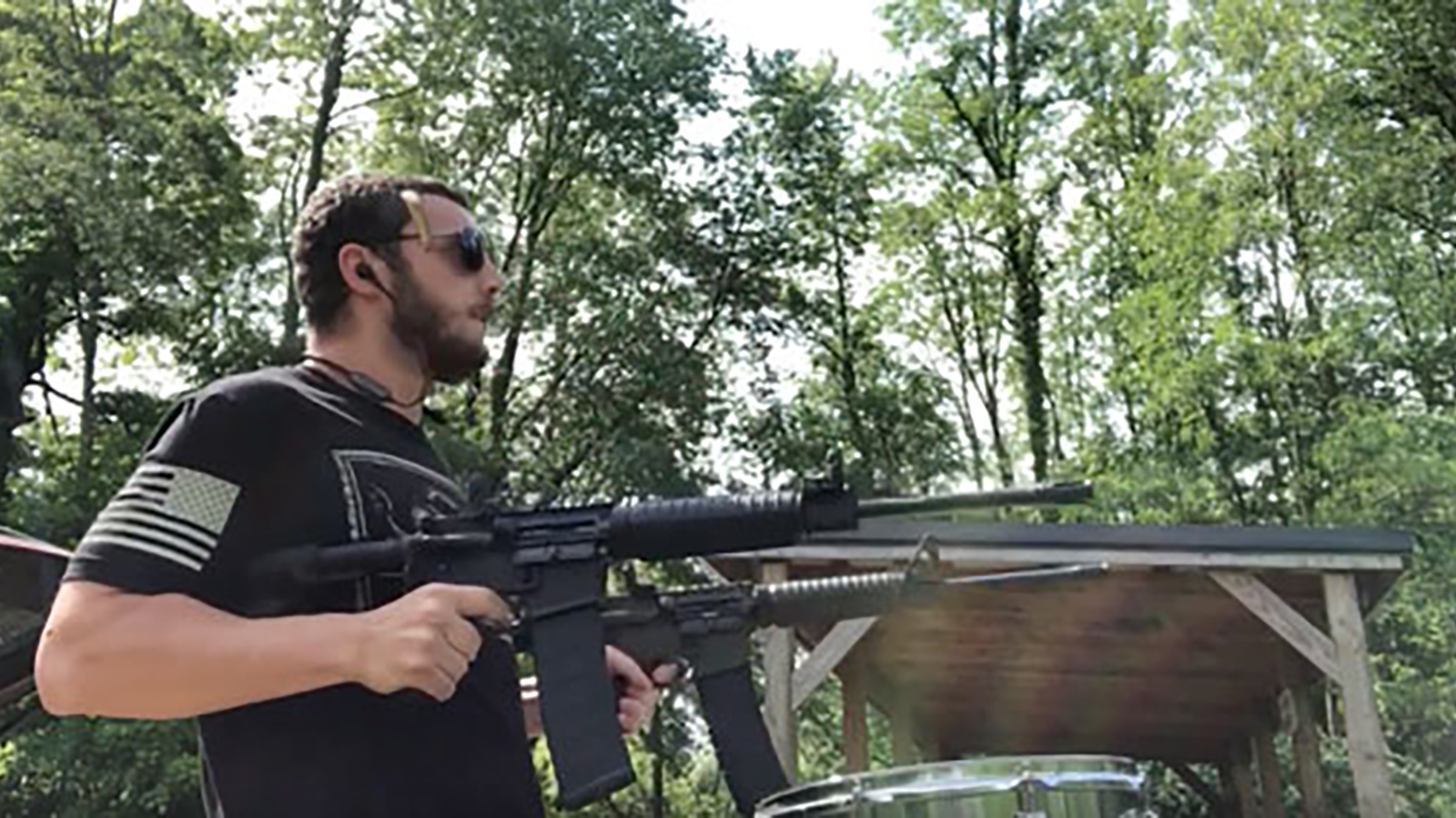"""See """"GunDrummer"""" Cover Slipknot's """"Psychosocial"""" With Semi-Automatic Rifles"""