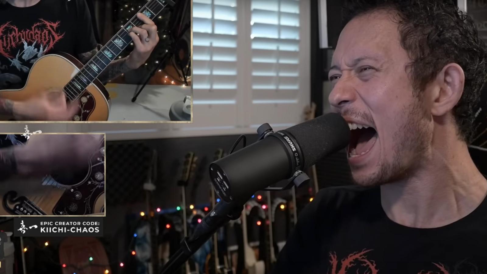 "See Trivium's Matt Heafy Play Heartfelt Acoustic Cover of Slipknot's ""Unsainted"""