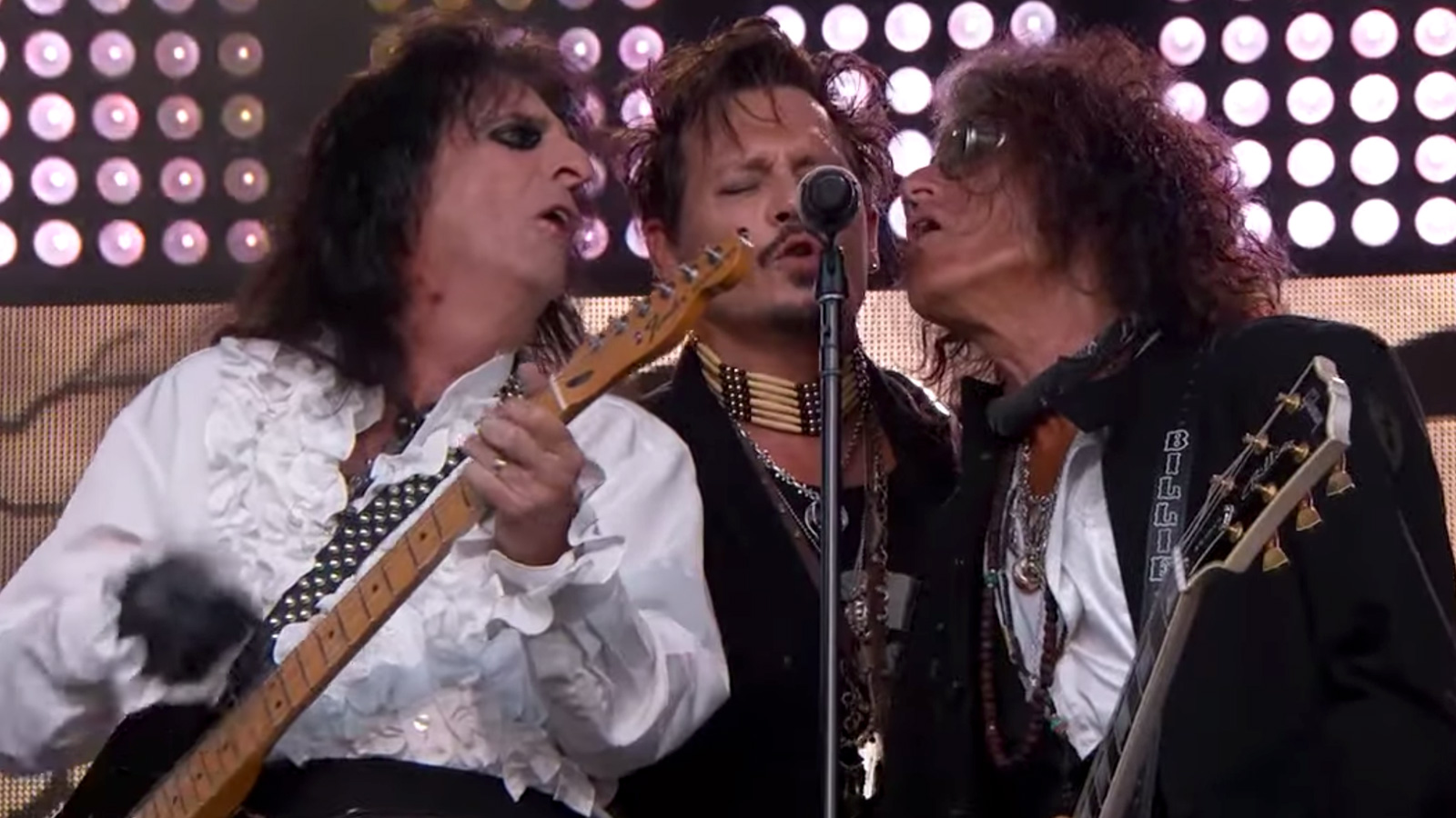 """See Hollywood Vampires Cover David Bowie's """"Heroes"""" on 'Jimmy Kimmel Live'"""