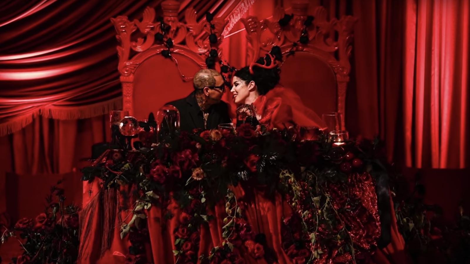 watch kat von d and prayers singer u0026 39 s extravagant goth wedding video