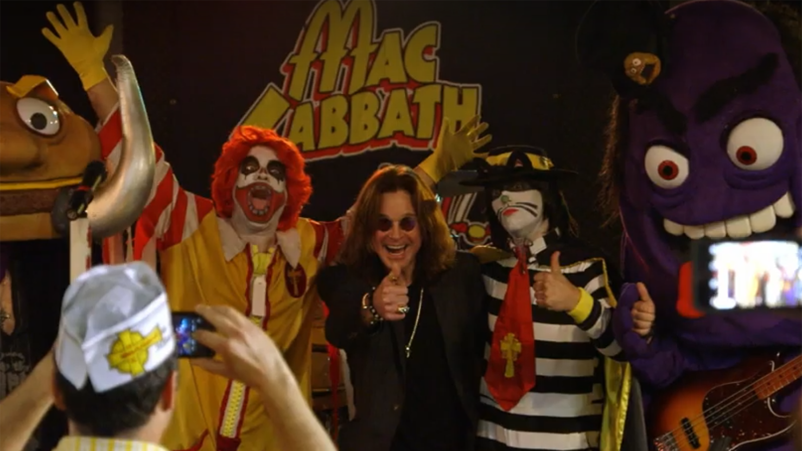 See Ozzy's Surprise Meeting With McDonald's-Themed Cover Band Mac Sabbath