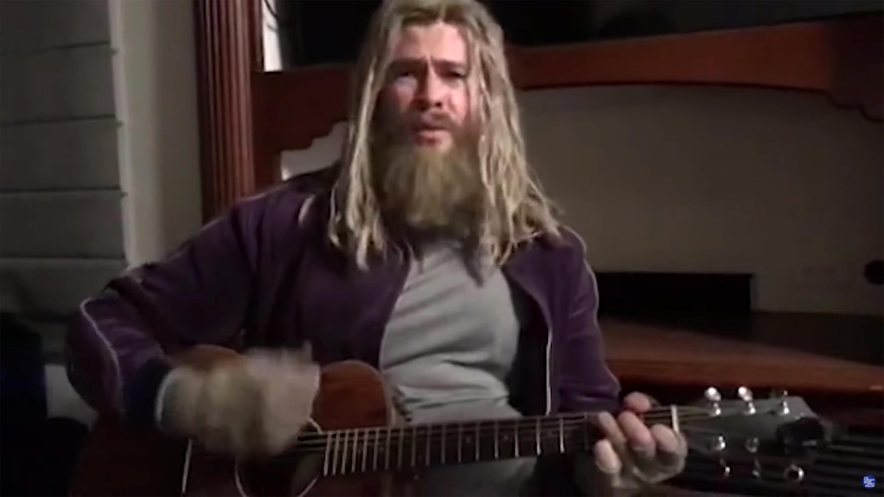 """See Chris Hemsworth's """"Fat Thor"""" Cover Nine Inch Nails' """"Hurt"""" on 'Fallon'"""