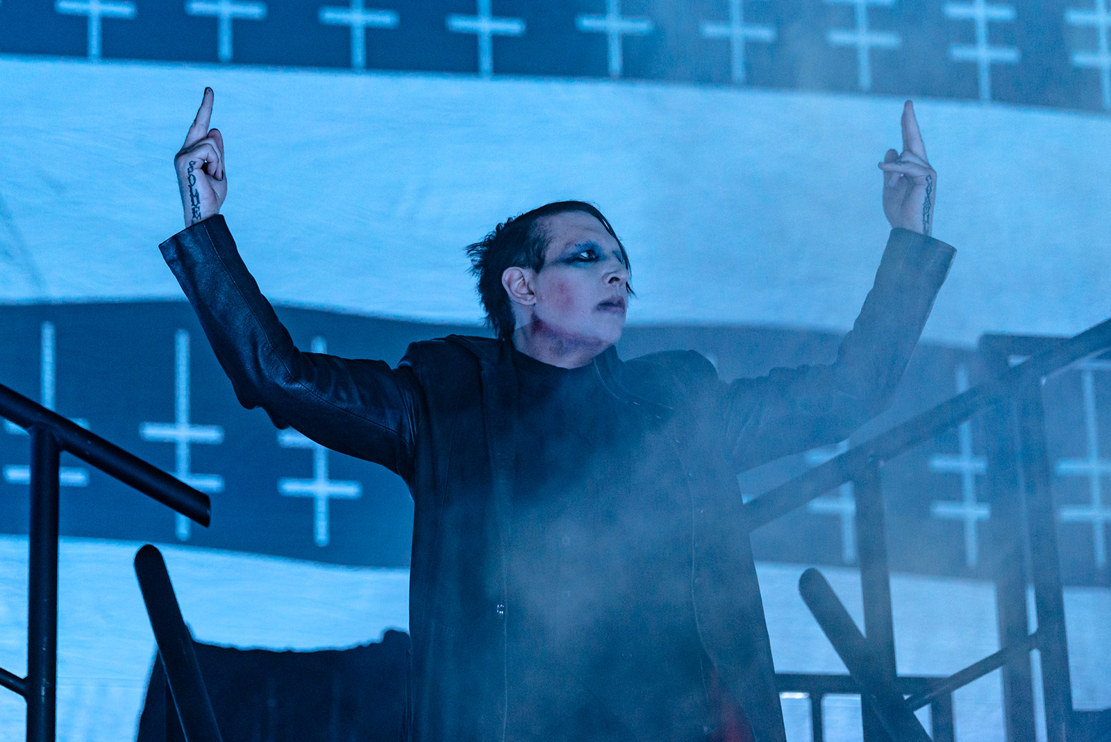 Marilyn Manson and Rob Zombie: See Striking Photos of Twins of Evil Tour Kickoff