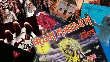 album covers collage