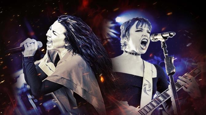 Evanescence x Halestorm 2021 Tour Flier
