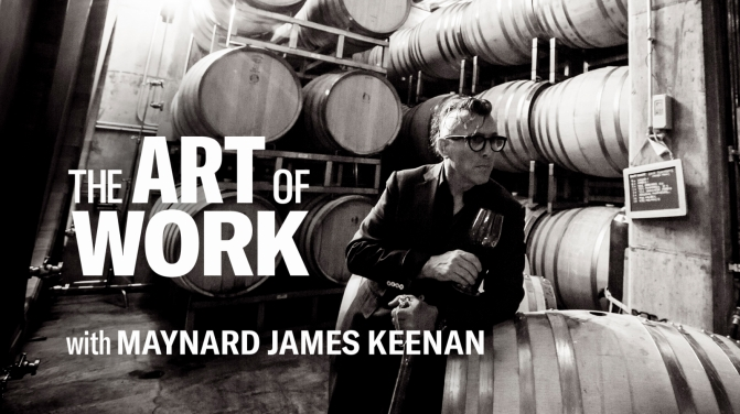 the art of work series card Maynard James Keenan