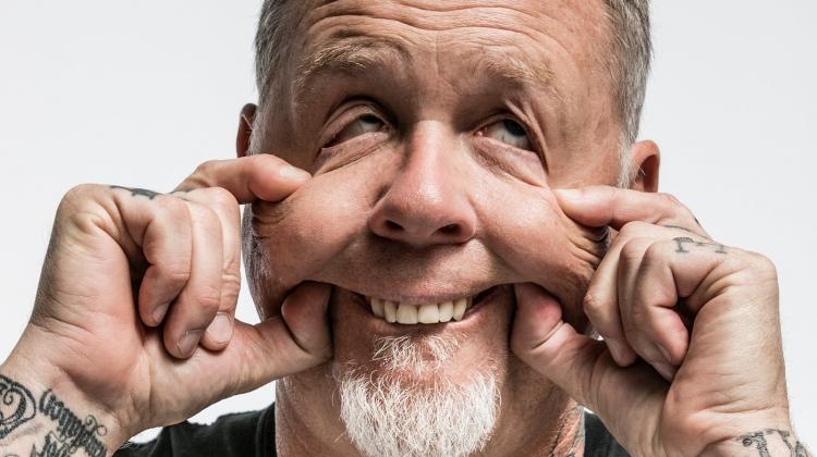 James Hetfield funny face Hubbard, Jimmy Hubbard
