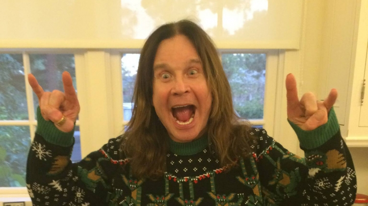 ozzy osbourne Christmas photo, Facebook @ozzyosbourne