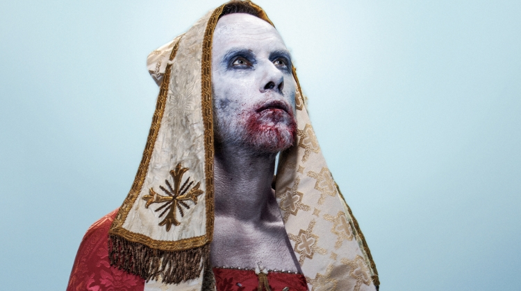 behemoth-nergal-hubbard-crop.jpg, Jimmy Hubbard; styling by Cannon at The Cannon Media Group; assistant styling by Alexandra Lynn Gramp; SPFX makeup and grooming by Jenn Blum; light design by William Englehardt