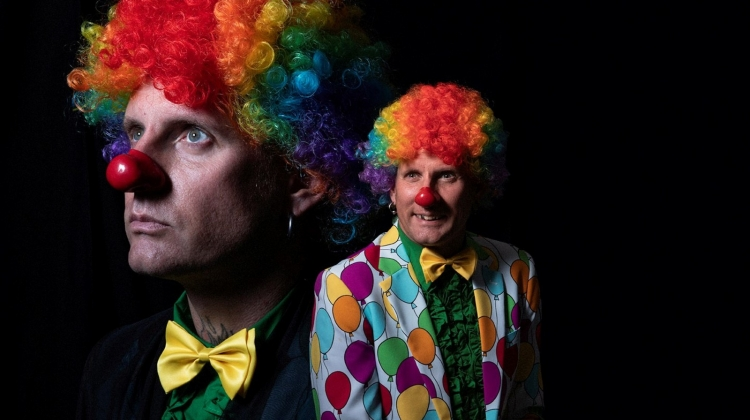 Brann Dailor Clown Photo Cropped for Lead Image, Jimmy Hubbard