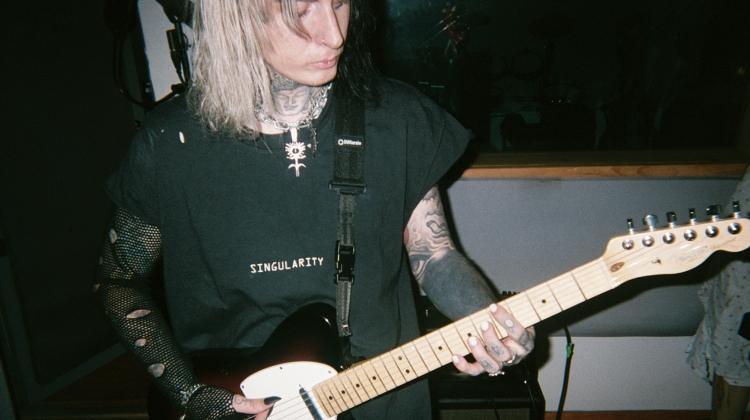 ghostemane guitar crop, Akiva Alpert