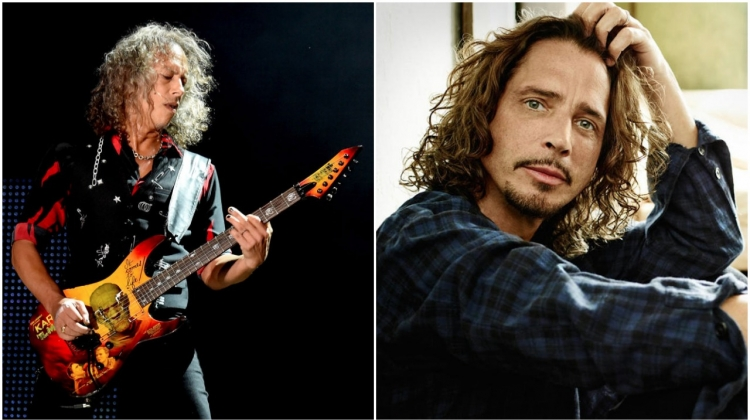Kirk Hammett/Chris Cornell 2017, Kirk Hammett photo by Kevin Winter/Getty Images; Chris Cornell photo by