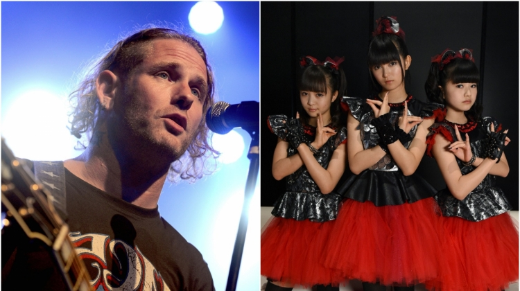 Corey Taylor Babymetal, Corey Taylor photo by Scott Dudelson/Getty Images; Babymetal photo by Toru Yamanaka/AFP/Getty Images
