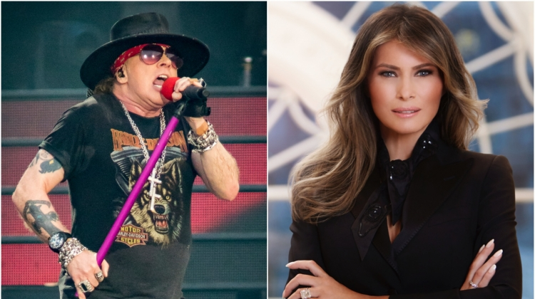 Axl Rose Melania Trump, Mark Horton/Getty Images; The White House via Getty Images