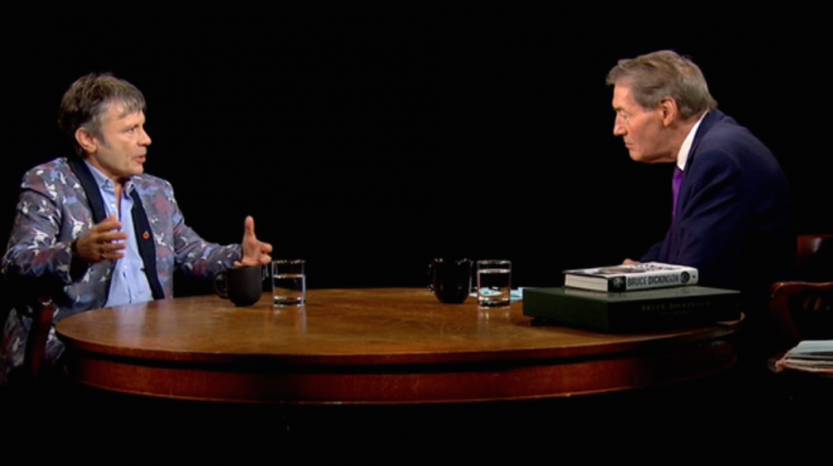 Bruce Dickinson Charlie Rose Screencap