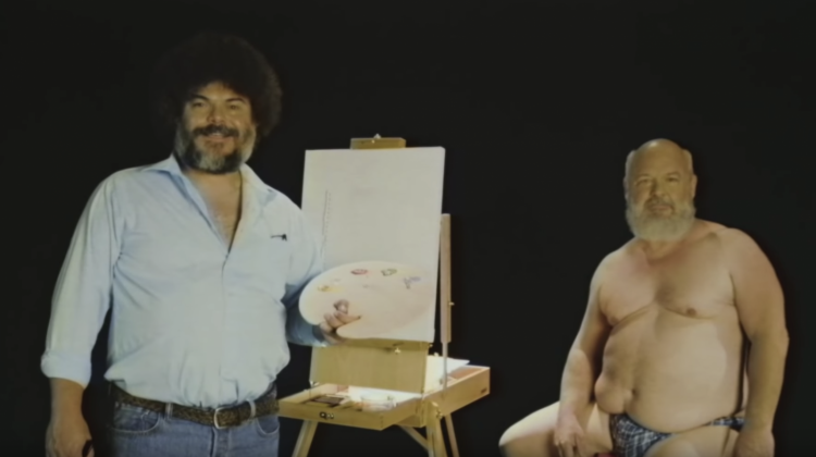 tenacious d bob ross video still