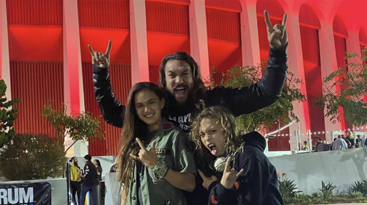 Jason momoa kids slayer final show, Instagram @prideofgypsies