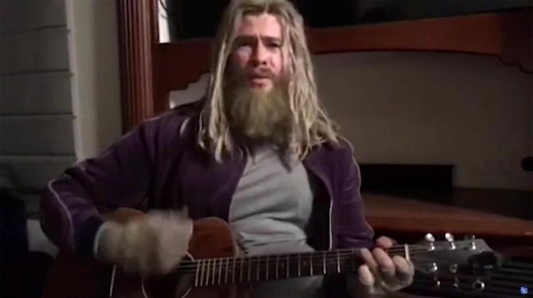 "Watch Chris Hemsworth's ""Fat Thor"" Cover NIN's ""Hurt"" on 'Fallon'"