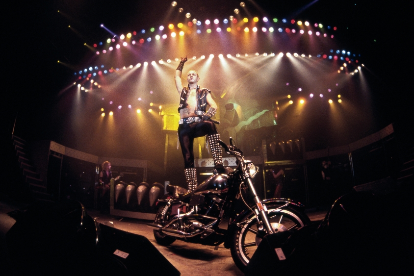 ross halfin priest rob motorcycle onstage color, Ross Halfin