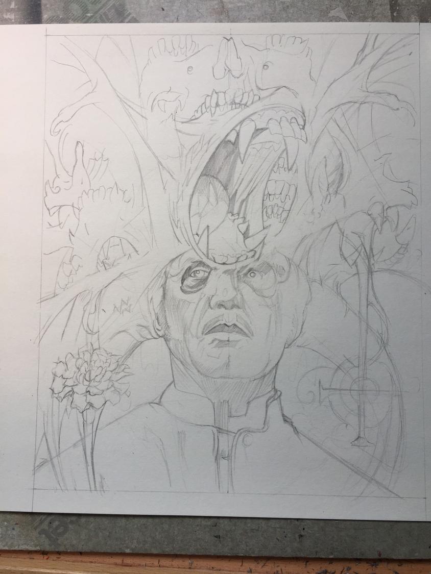 ghost illustration sketch 1, Marald van Haasteren