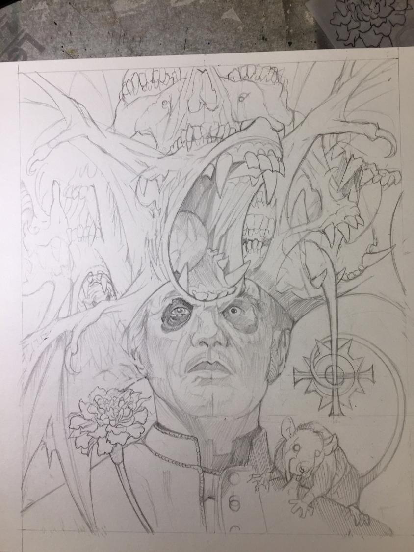 ghost illustration sketch 2, Marald van Haasteren