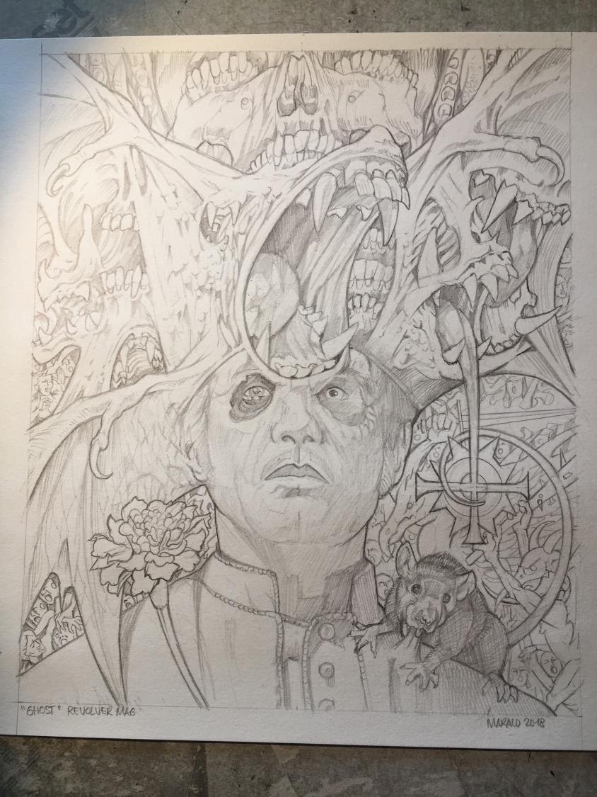ghost illustration sketch 3, Marald van Haasteren