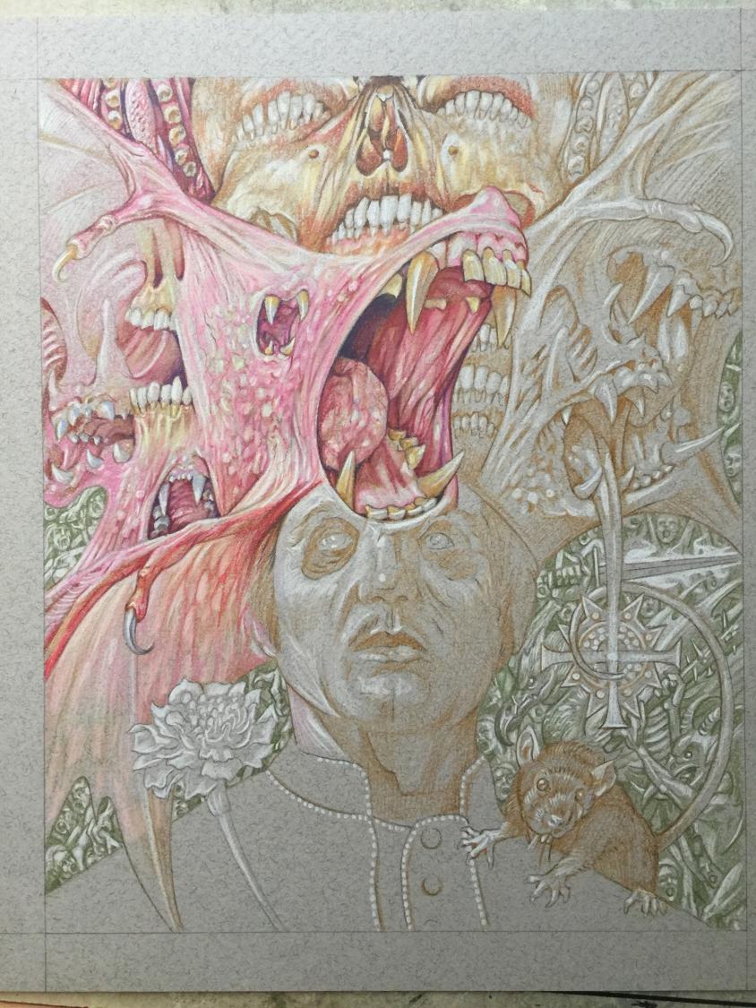 ghost illustration sketch 5, Marald van Haasteren