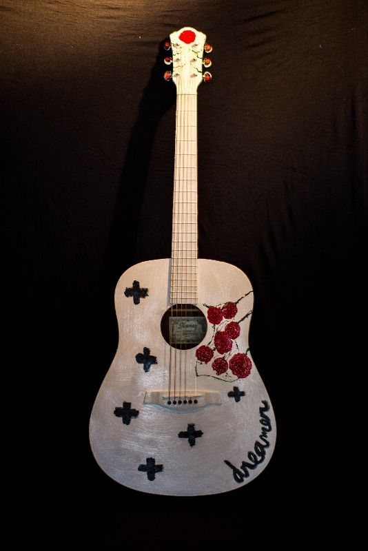Chelsea Wolfe autographed guitar