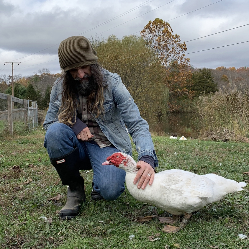 2_rob zombie_with_rob_duck CROPPED.jpg, Woodstock Farm Sanctuary