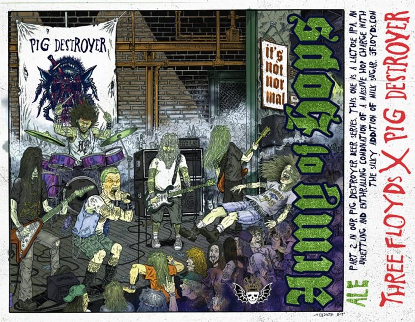 pig destroyer army of hops 3 Floyds beer label
