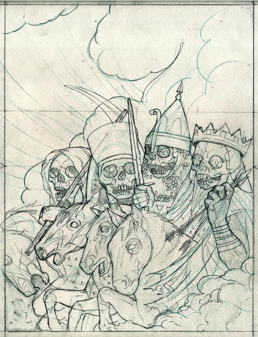 big 4 special issue sketch, John Dyer Baizley