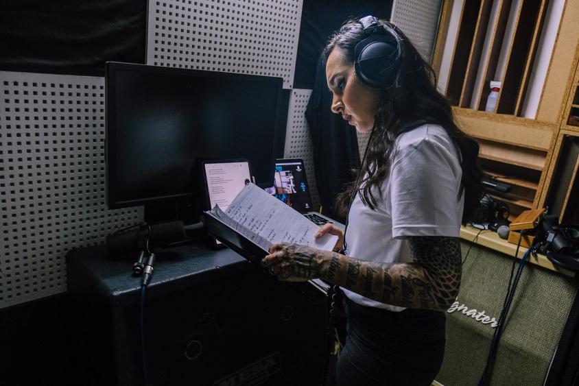 Tatiana Shmayluk of Jinjer studio reading 2021, Oleg Rooz