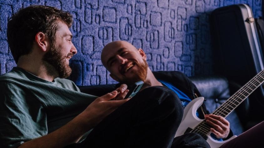 Jinjer Romand and Vlad Studio smiling 2021, Oleg Rooz