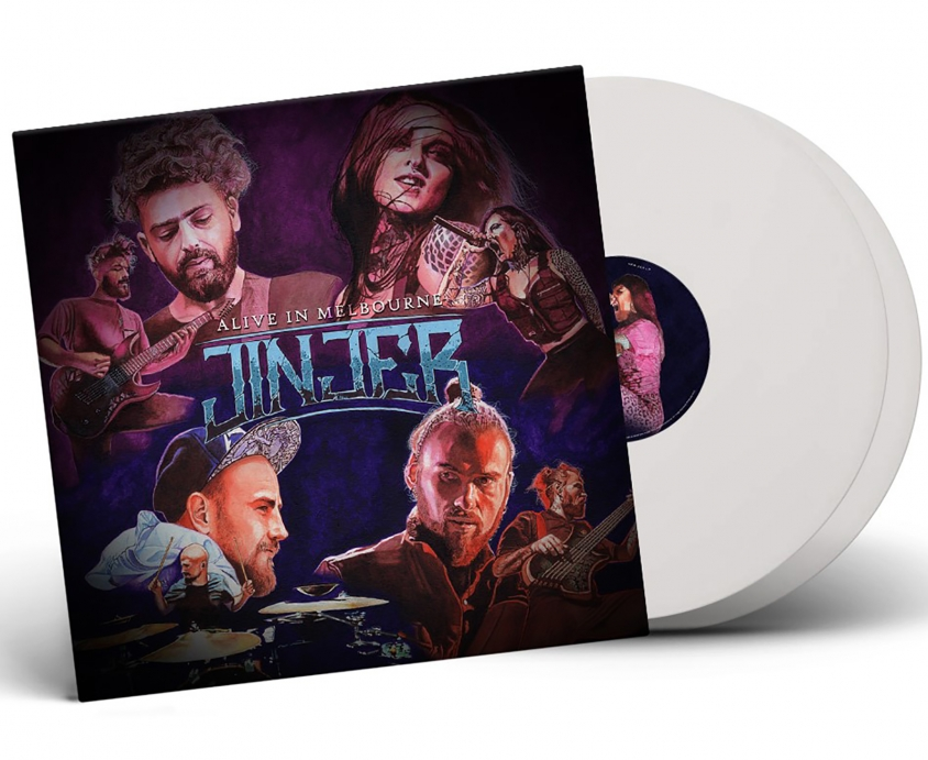 jinjer white vinyl product