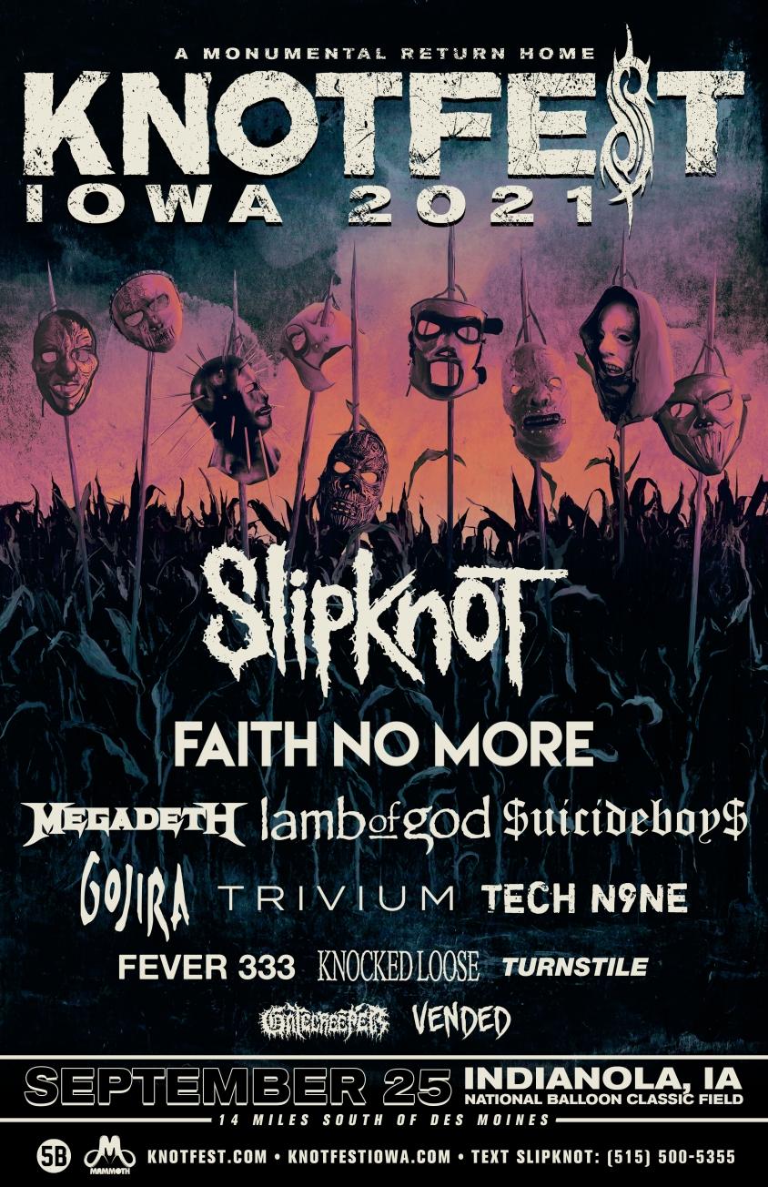 Knotfest 2021 Lineup Flyer