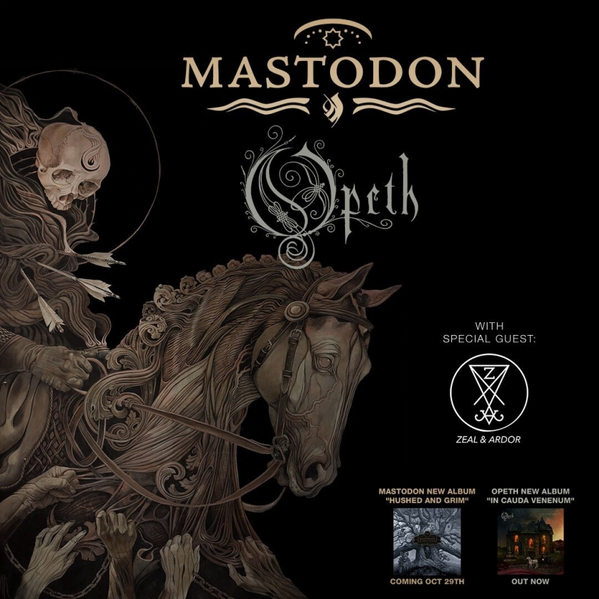 Mastodon Fall 2021 tour flier