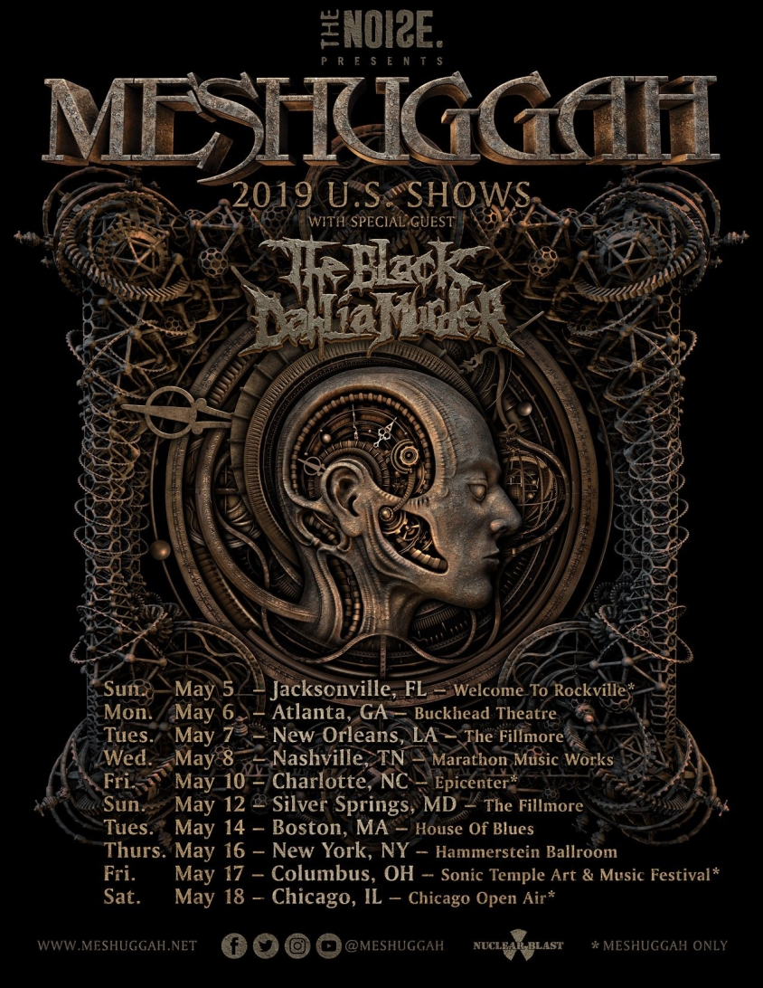Meshuggah Announce U S Tour With Black Dahlia Murder Revolver