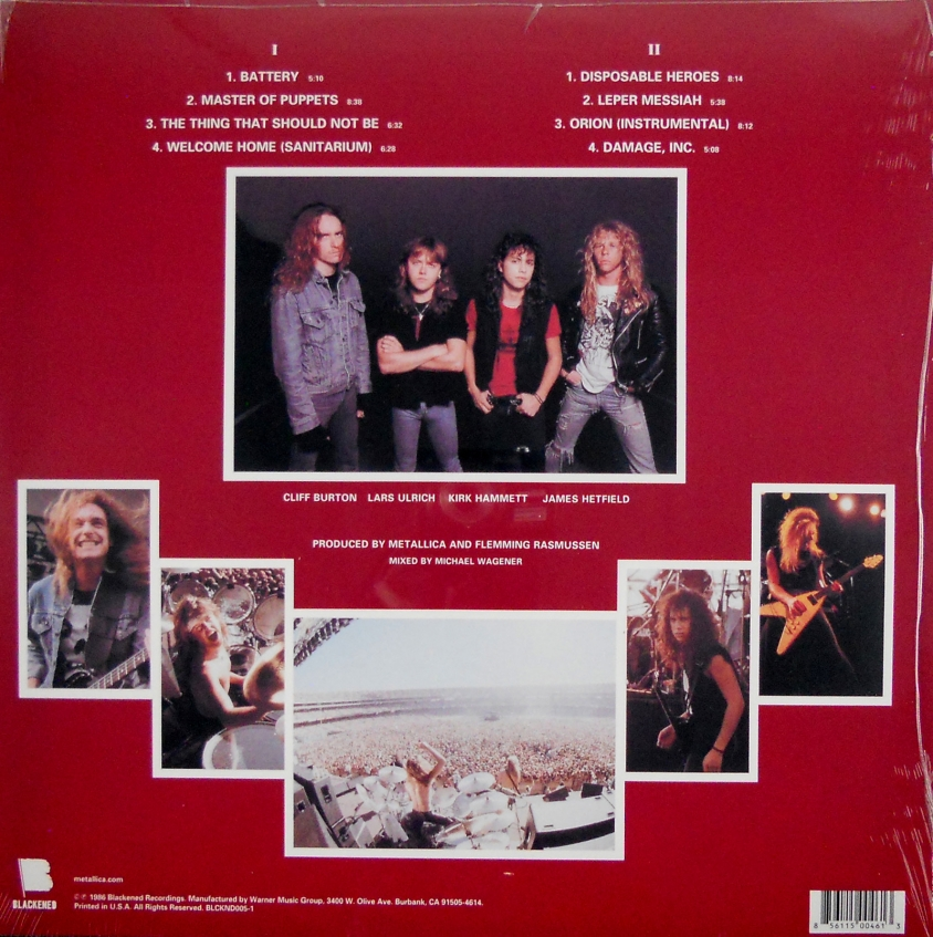 metallica master of puppets back cover