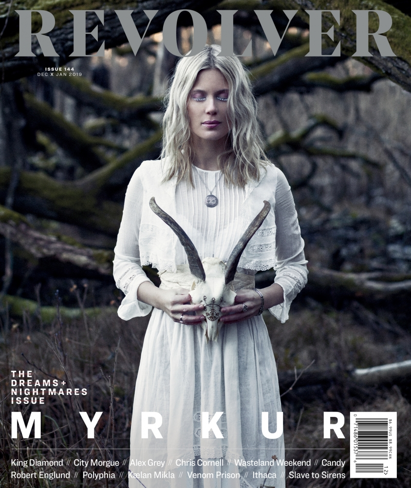 myrkur_cover.jpg, Daria Endresen with hair and makeup by Mia Pelch and skull carving by Alduvin Bonecraft