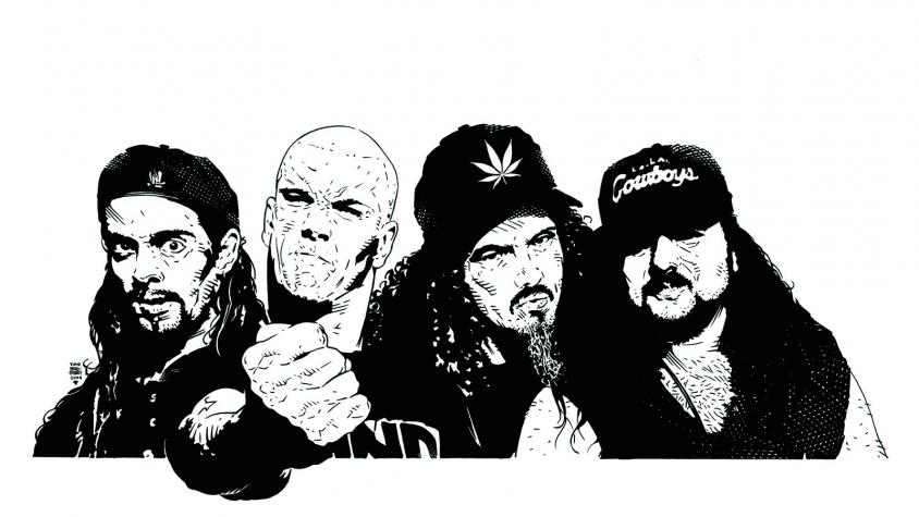 pantera lineup illustration BRADSTREET, Tim Bradstreet