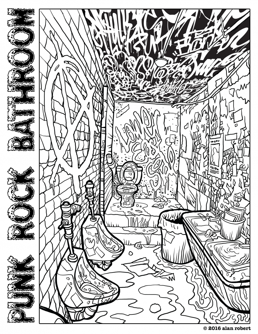It's just a photo of Crazy Punk Coloring Pages
