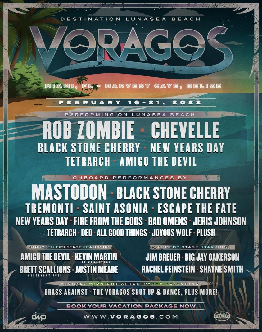 Voragos 2022 Metal Festival Lineup flier