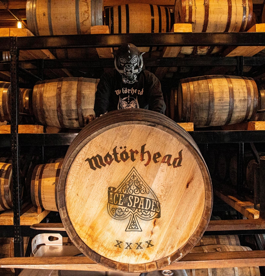 motorhead whiskey cask barrel mask