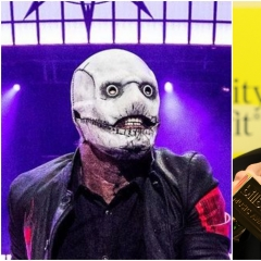 Corey Taylor / MGK split , Steve Thrasher (Slipknot) and Rich Fury Getty Images for dcp (MGK)